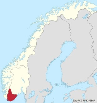 Agder County in Norway