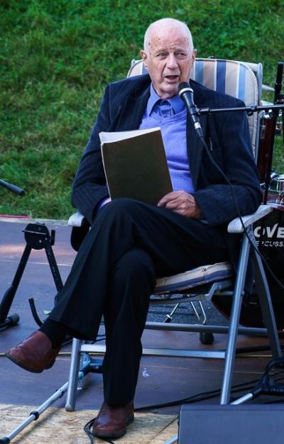 Edvard Vogt åpnet gatefesten i Selegrend, 5. september 2016.